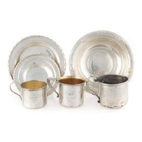 Misc. sterling silver tableware