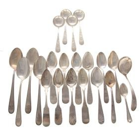 Assorted sterling and coin silver spoons