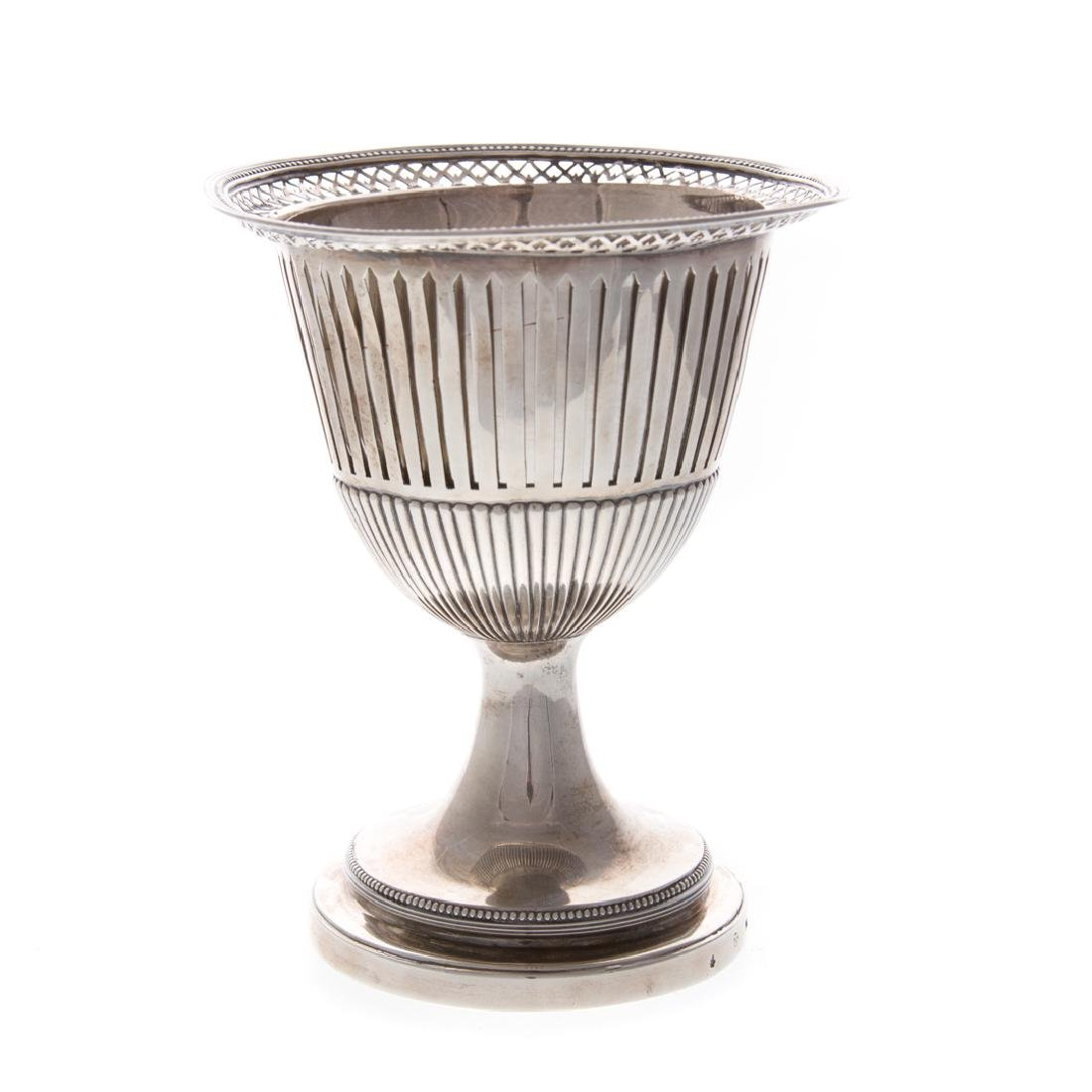 Dutch reticulated silver chalice