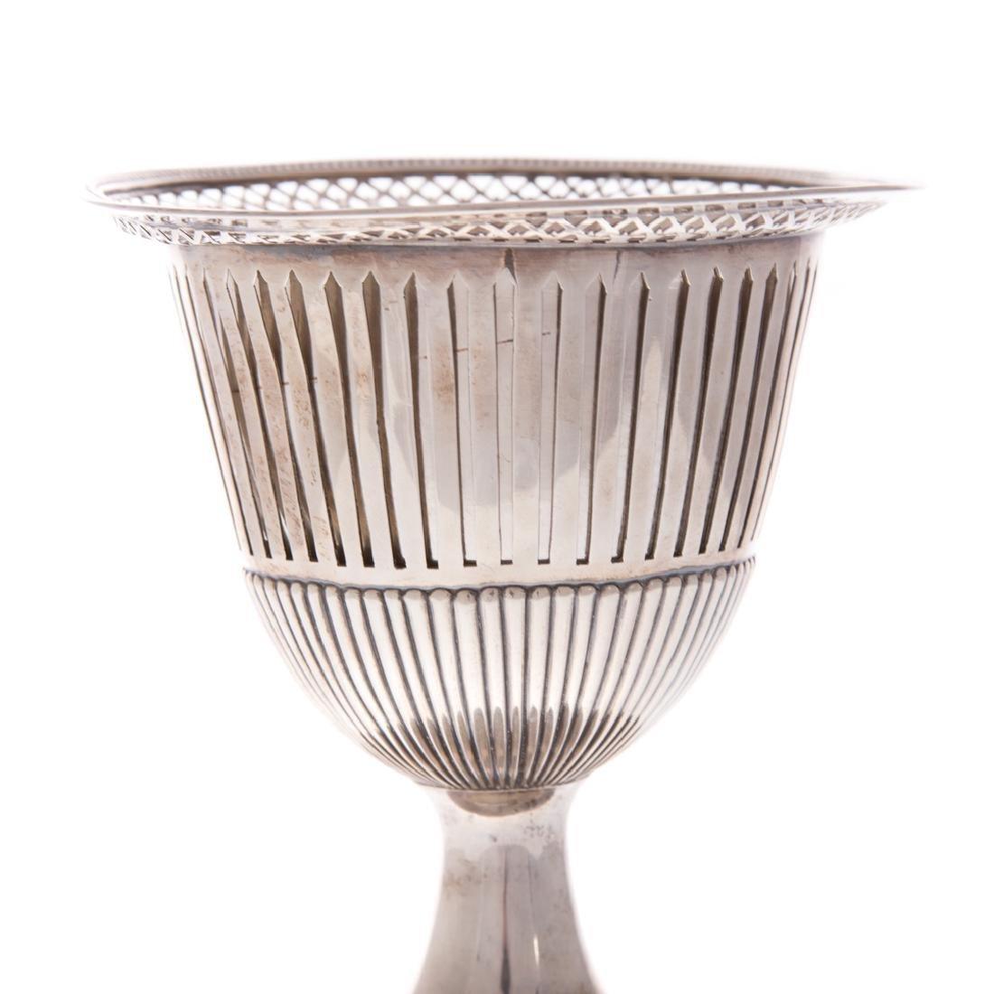 Dutch reticulated silver chalice - 2