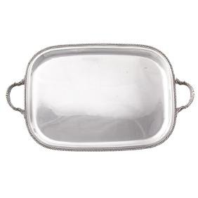 Durham sterling silver large waiter tray