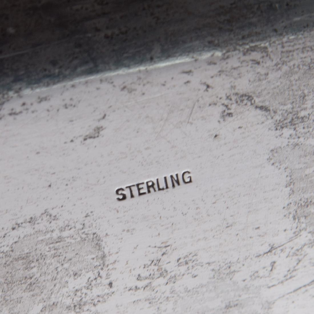 Durham sterling silver large waiter tray - 4