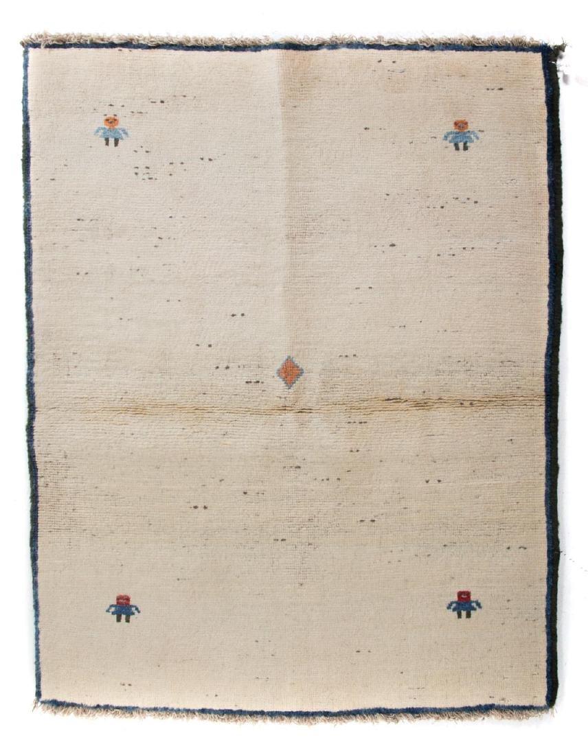 Persian Gabbeh rug, approx. 3.8 x 4.7
