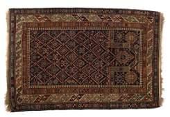 Antique Shirvan prayer rug approx 34 x 49