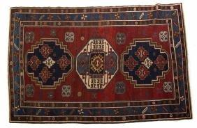 Antique Kazak rug, approx. 4.9 x 7