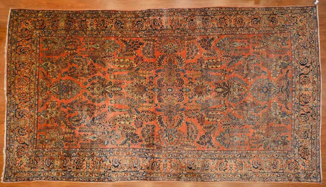 Antique Sarouk carpet, approx. 10 x 17.6