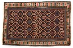 Antique Shirvan scatter rug approx 25 x 37