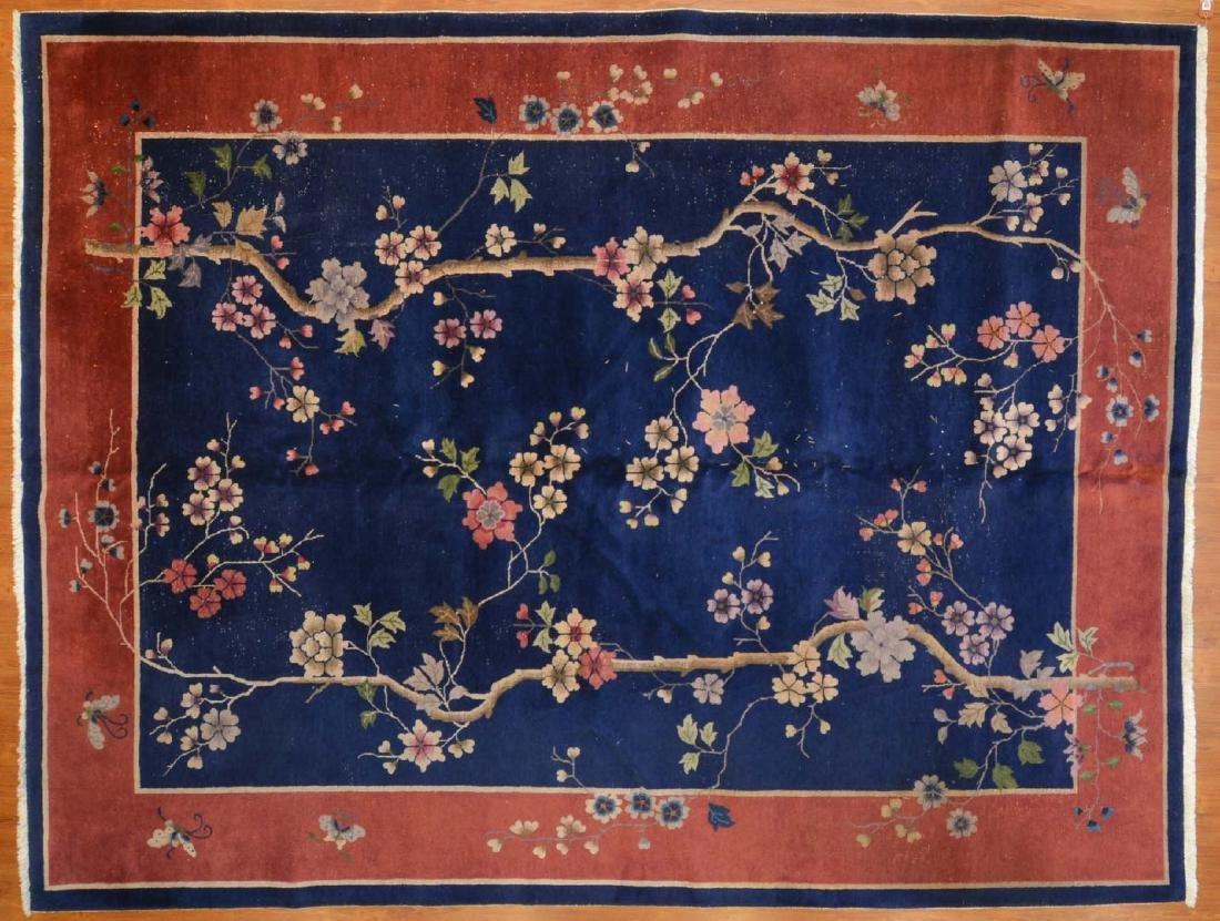 Antique Nichols Chinese carpet, approx. 8.9 x 11.6