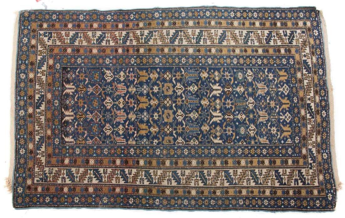 Antique Caucasian rug, approx. 3.7 x 6.4