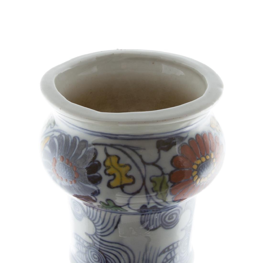 Chinese Fencai porcelain vase - 4