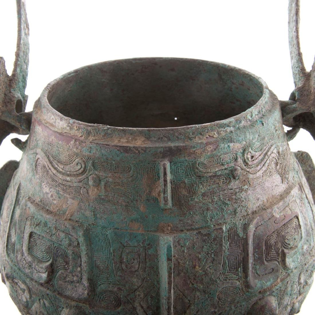 Chinese Chou style bronze vessel with handle - 5