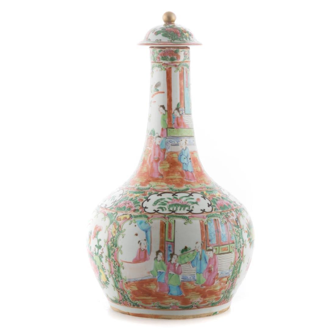 Chinese Export Rose Medallion water bottle