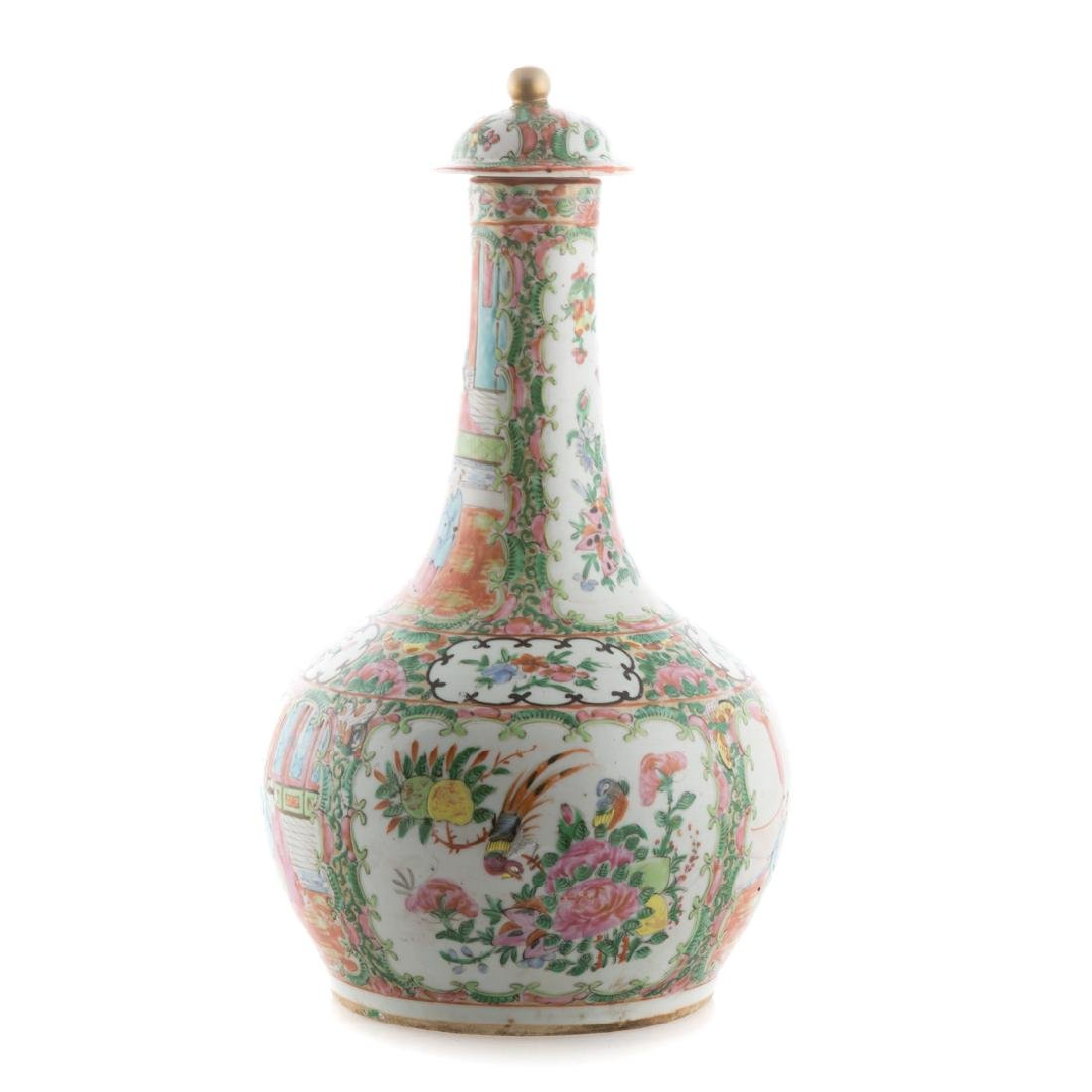 Chinese Export Rose Medallion water bottle - 2