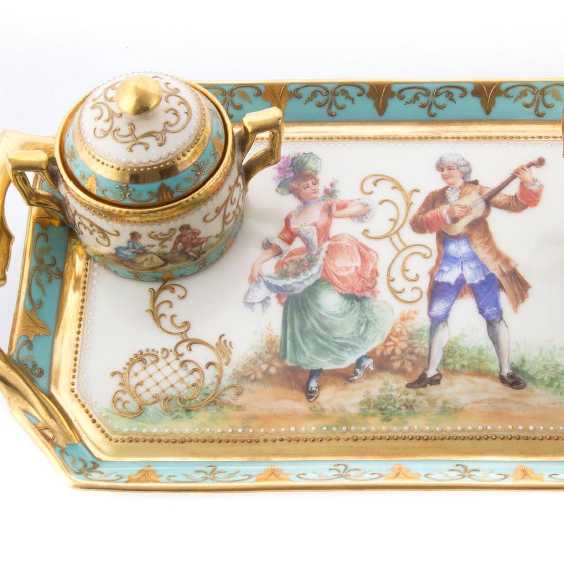 Dresden porcelain partial tea service - 2