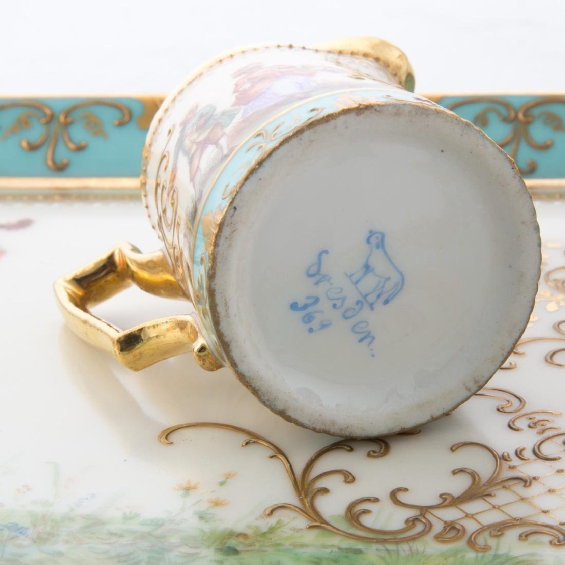 Dresden porcelain partial tea service - 3