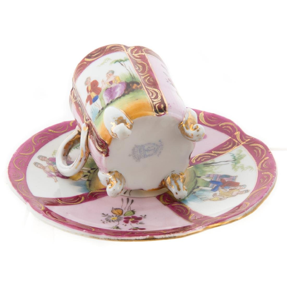 Dresden porcelain partial tea service - 4