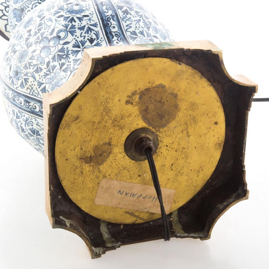 Delftware vase lamp - 3