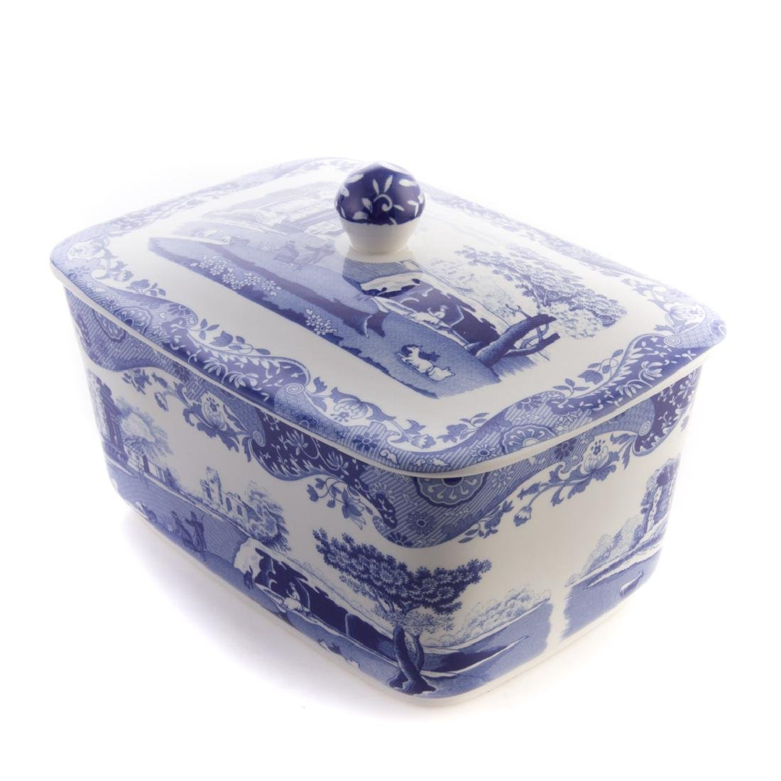 Five Spode blue transfer china tableware articles - 3