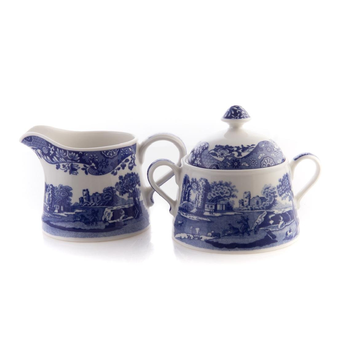 Five Spode blue transfer china tableware articles - 4