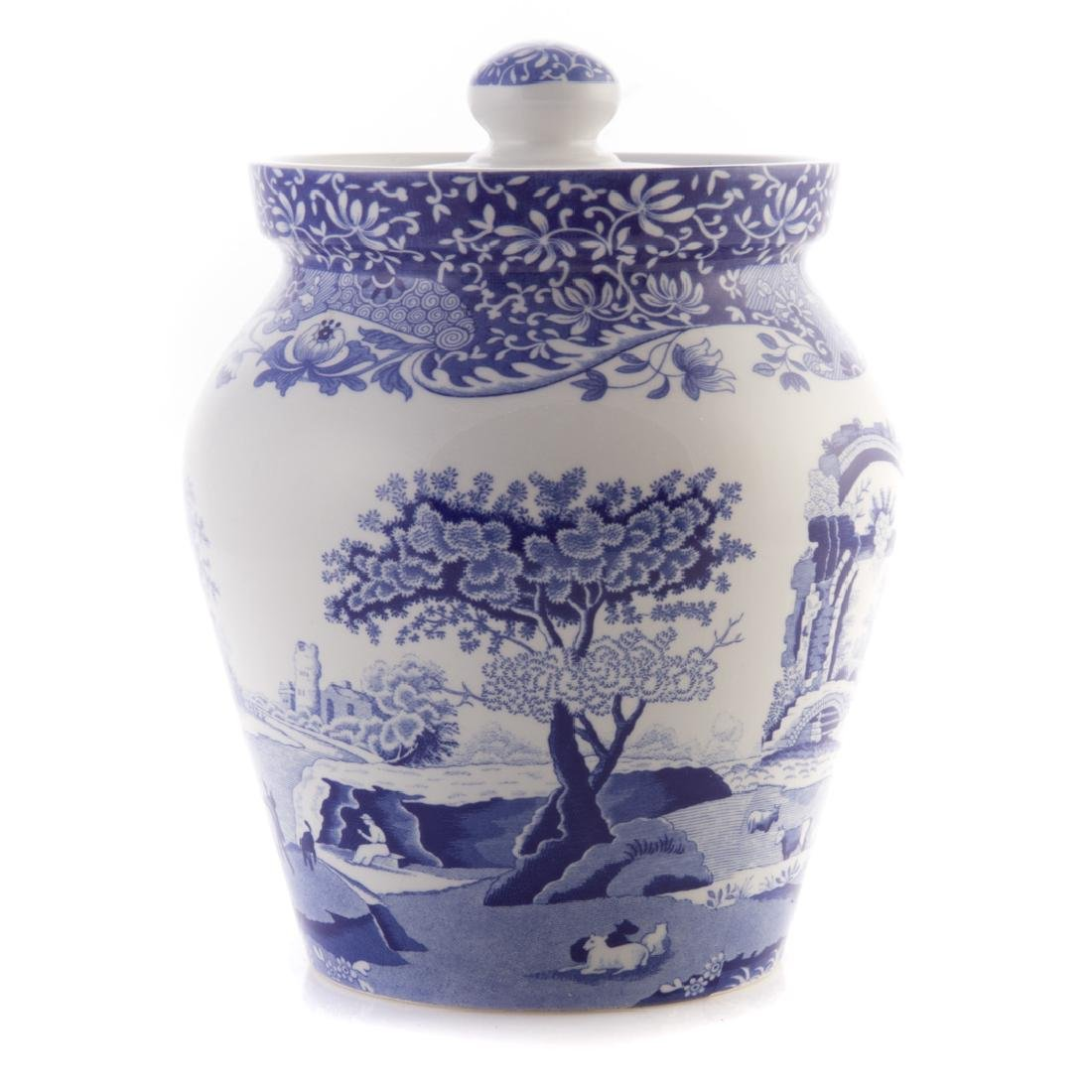 Five Spode blue transfer china tableware articles - 5