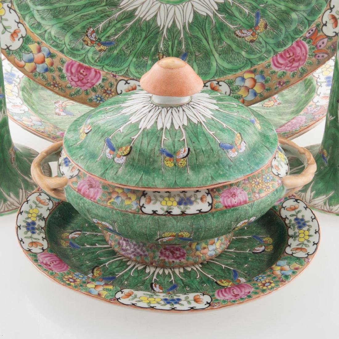 Six Chinese Export Cabbage Leaf table articles - 2