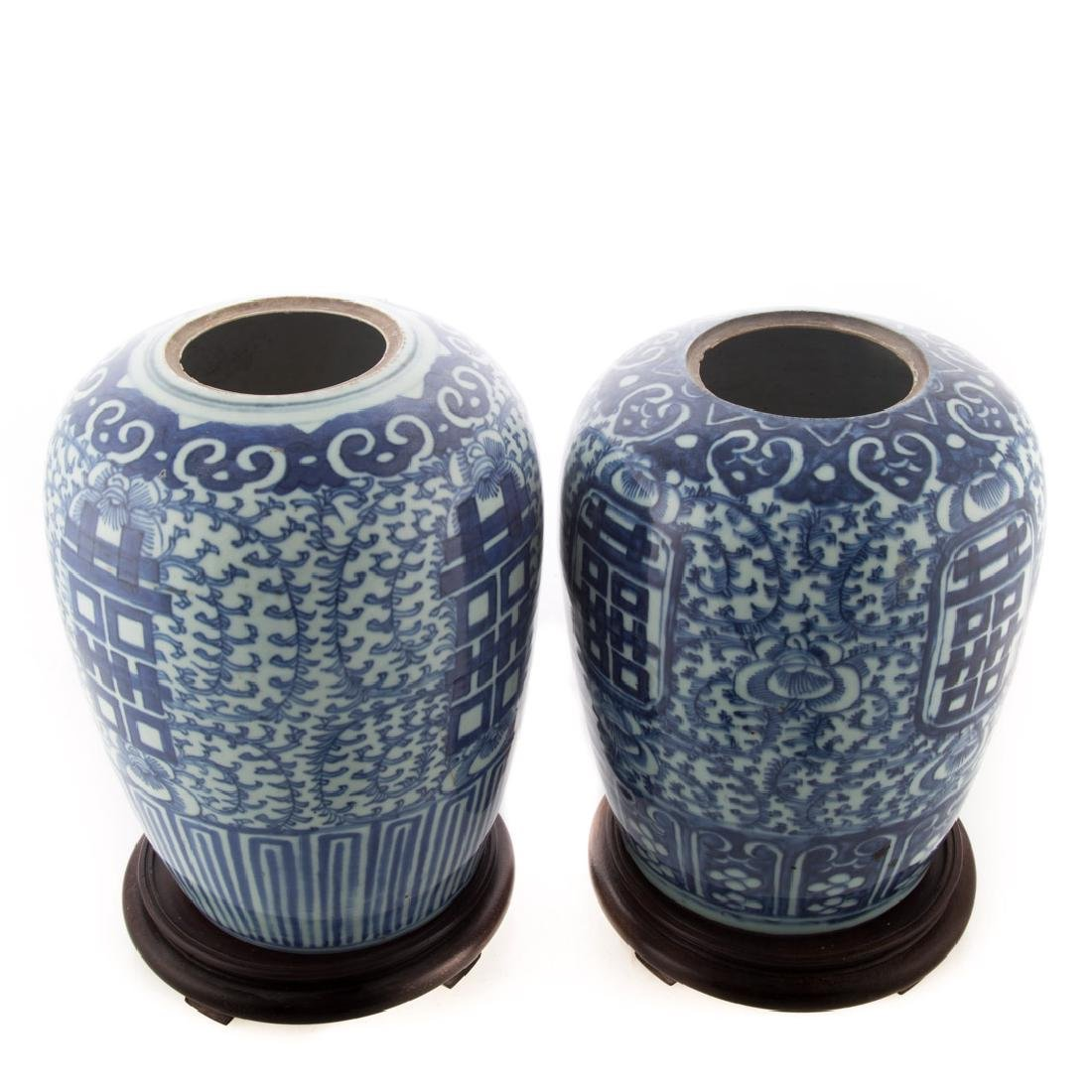 Two Chinese Export blue and white porcelain jars - 3