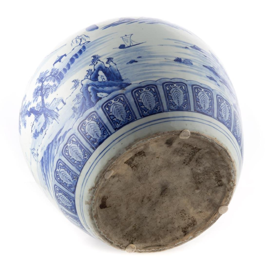 Chinese Export blue and white jardiniere - 3