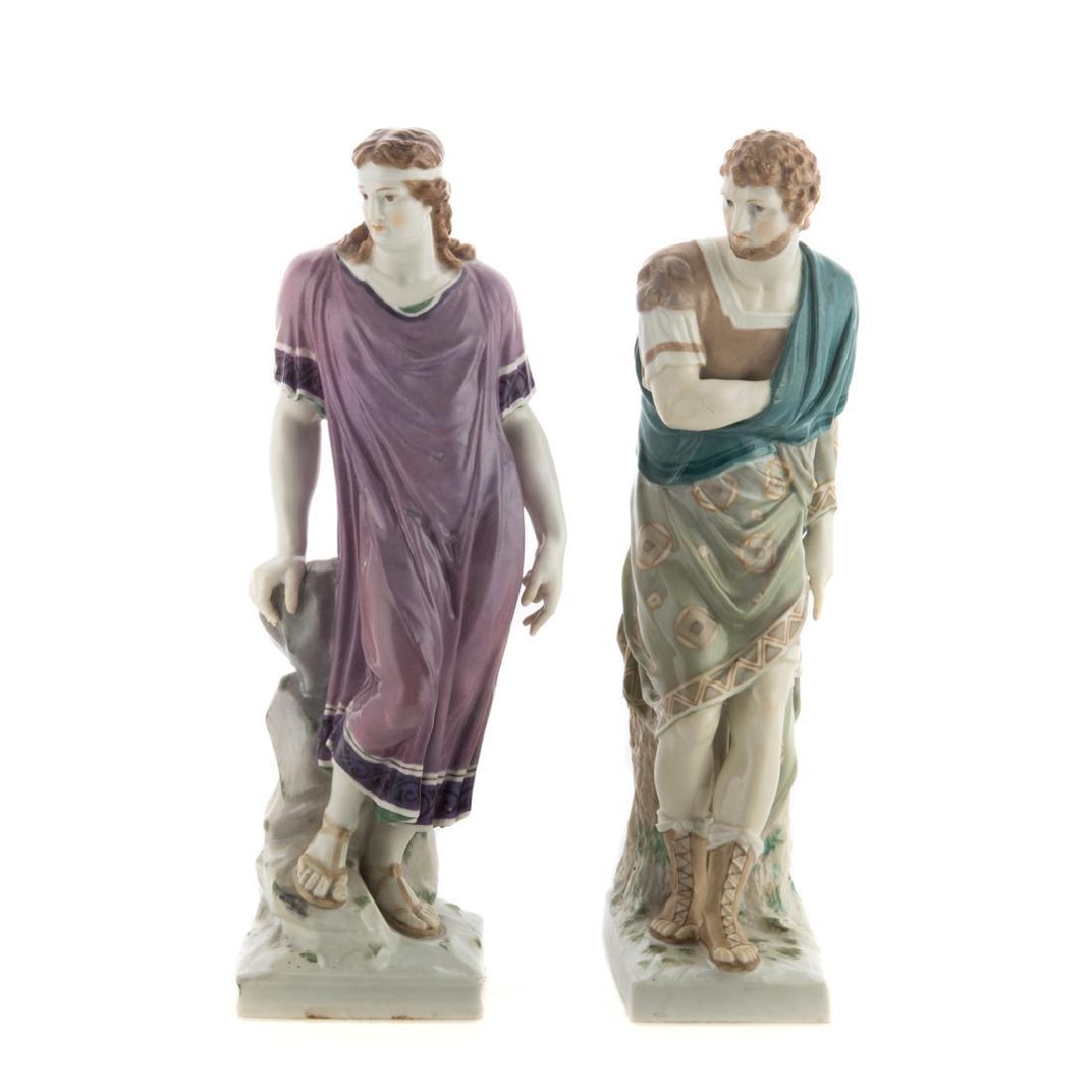 Pair KPM porcelain classical figures