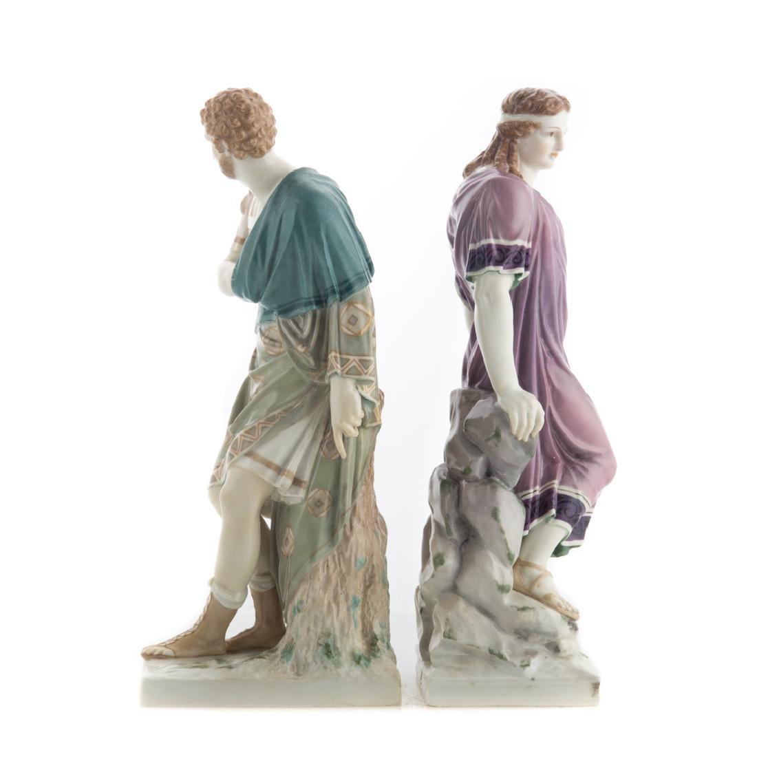 Pair KPM porcelain classical figures - 2