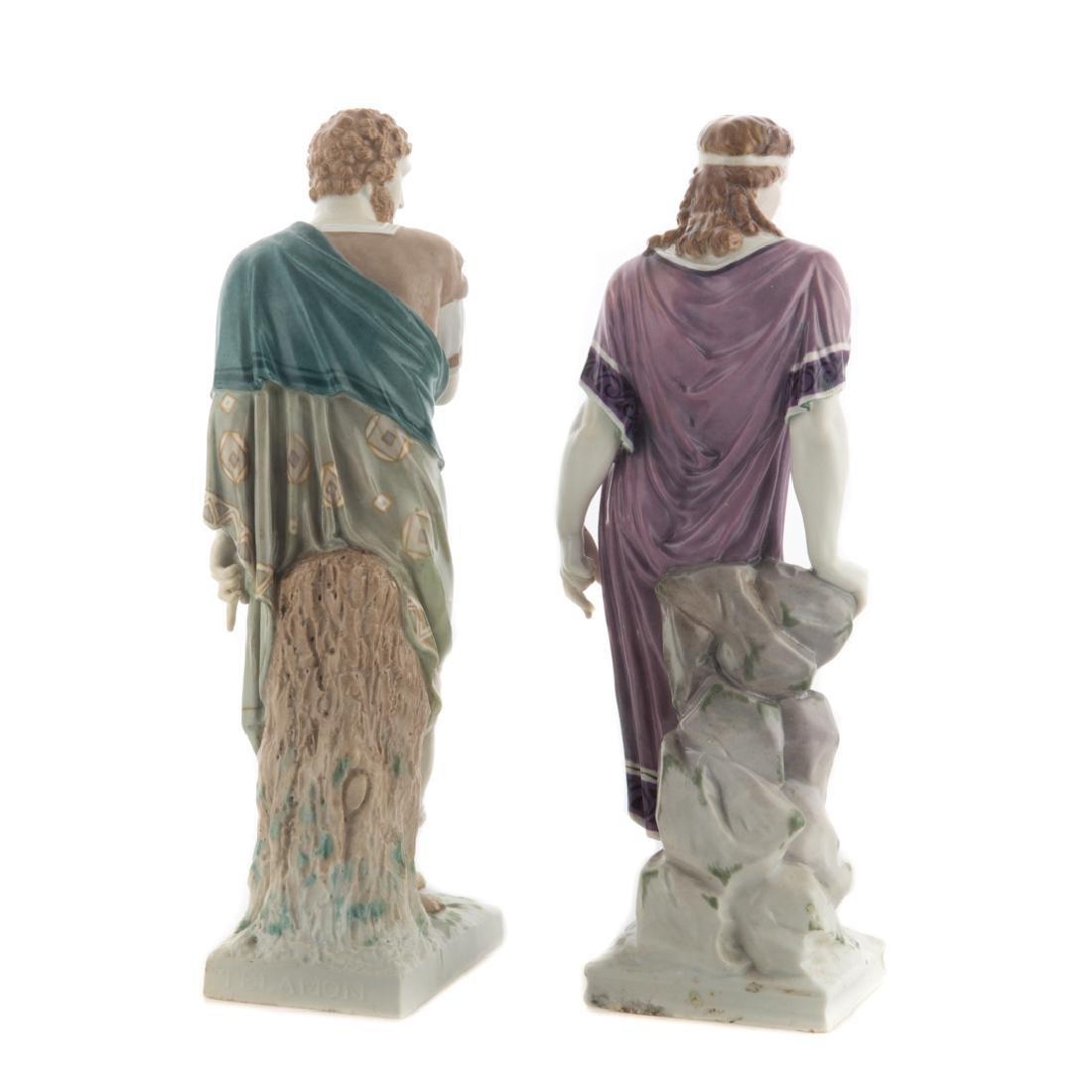 Pair KPM porcelain classical figures - 3