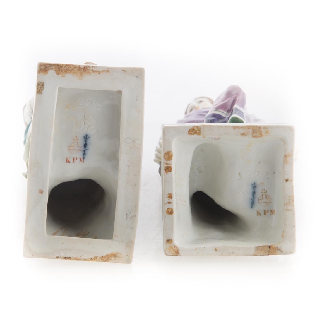 Pair KPM porcelain classical figures - 4