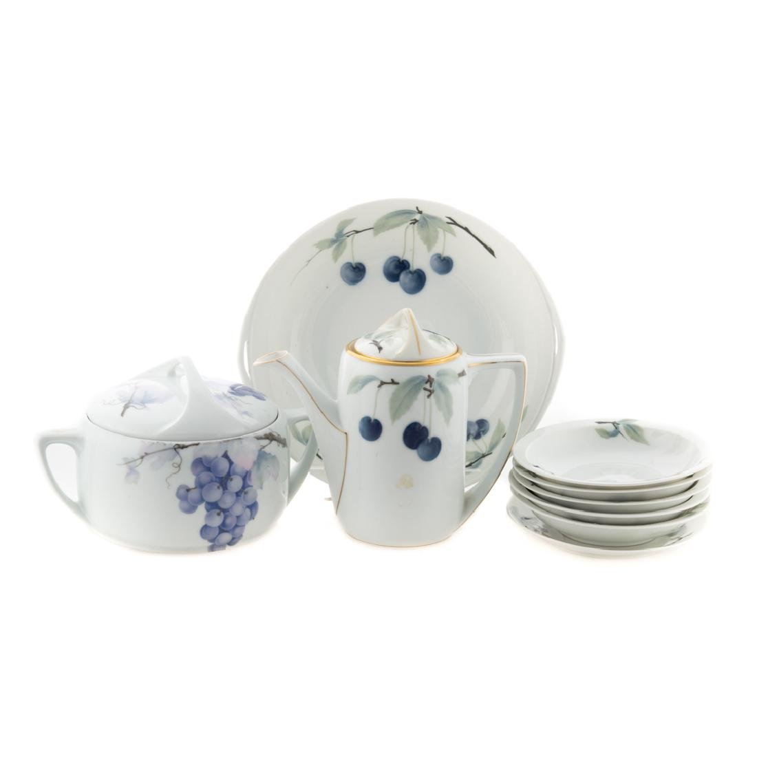 9 pcs. Rosenthal Pate-sur-Pate Donatello porcelain