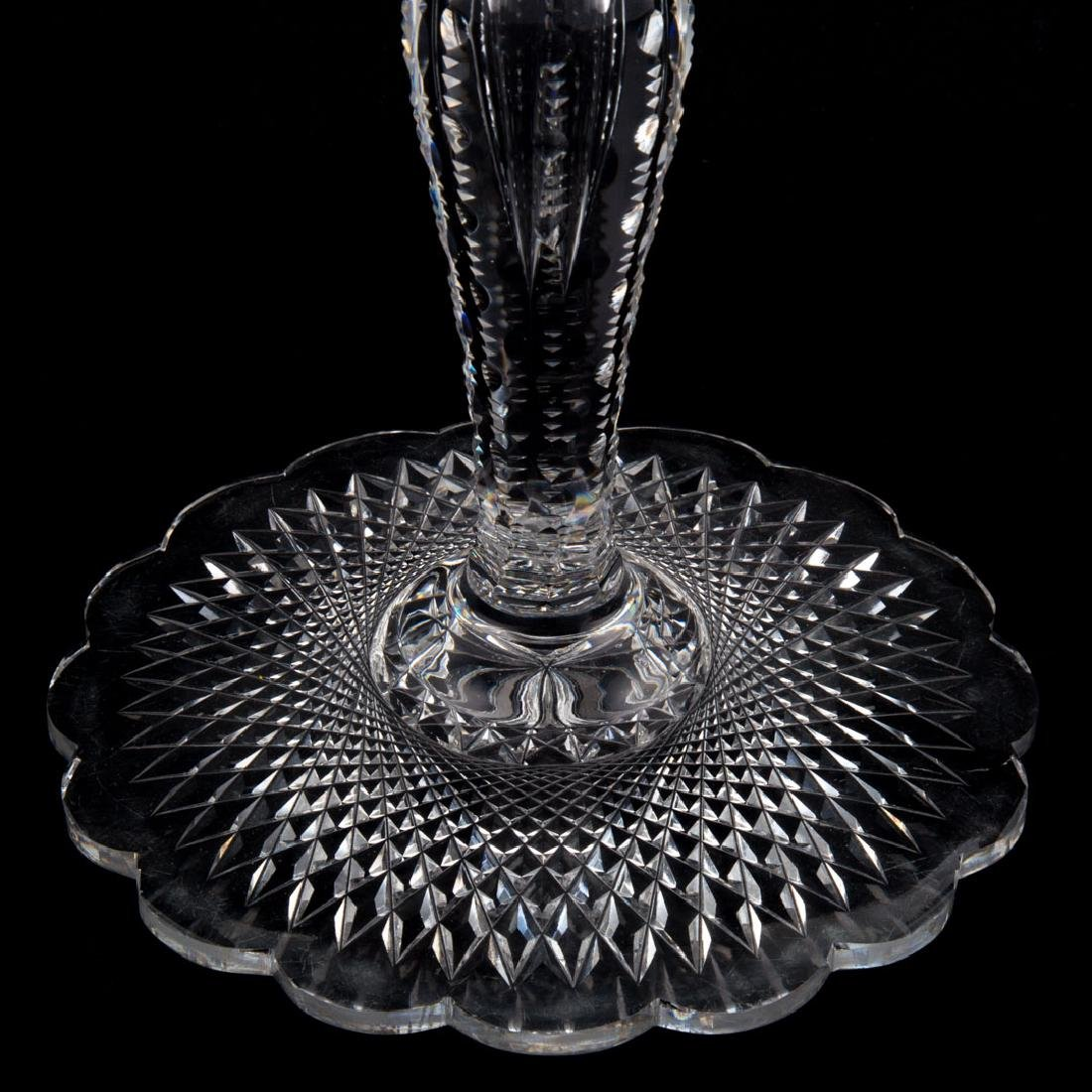 Large Continental cut crystal covered compote - 4