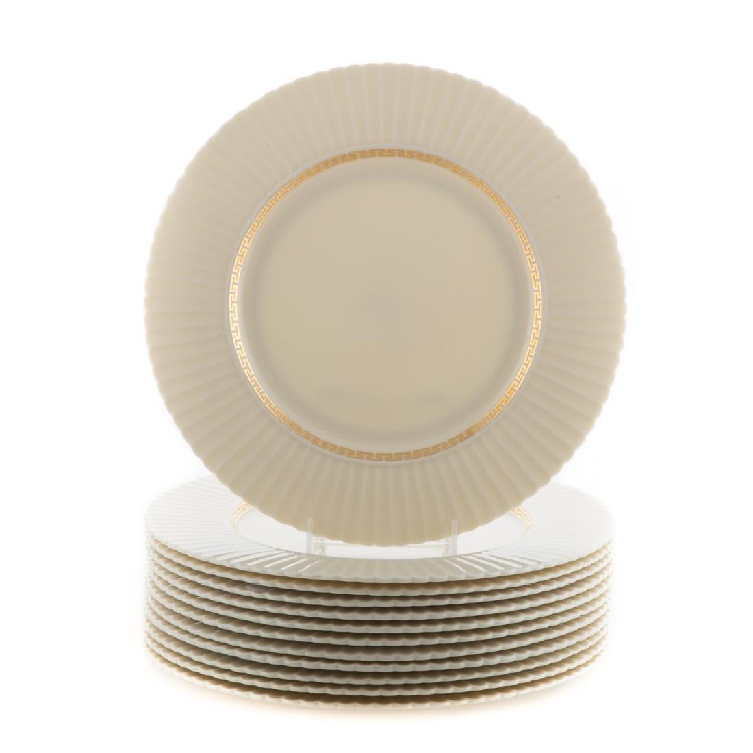 "12 Lenox porcelain ""Cretan"" dinner plates"