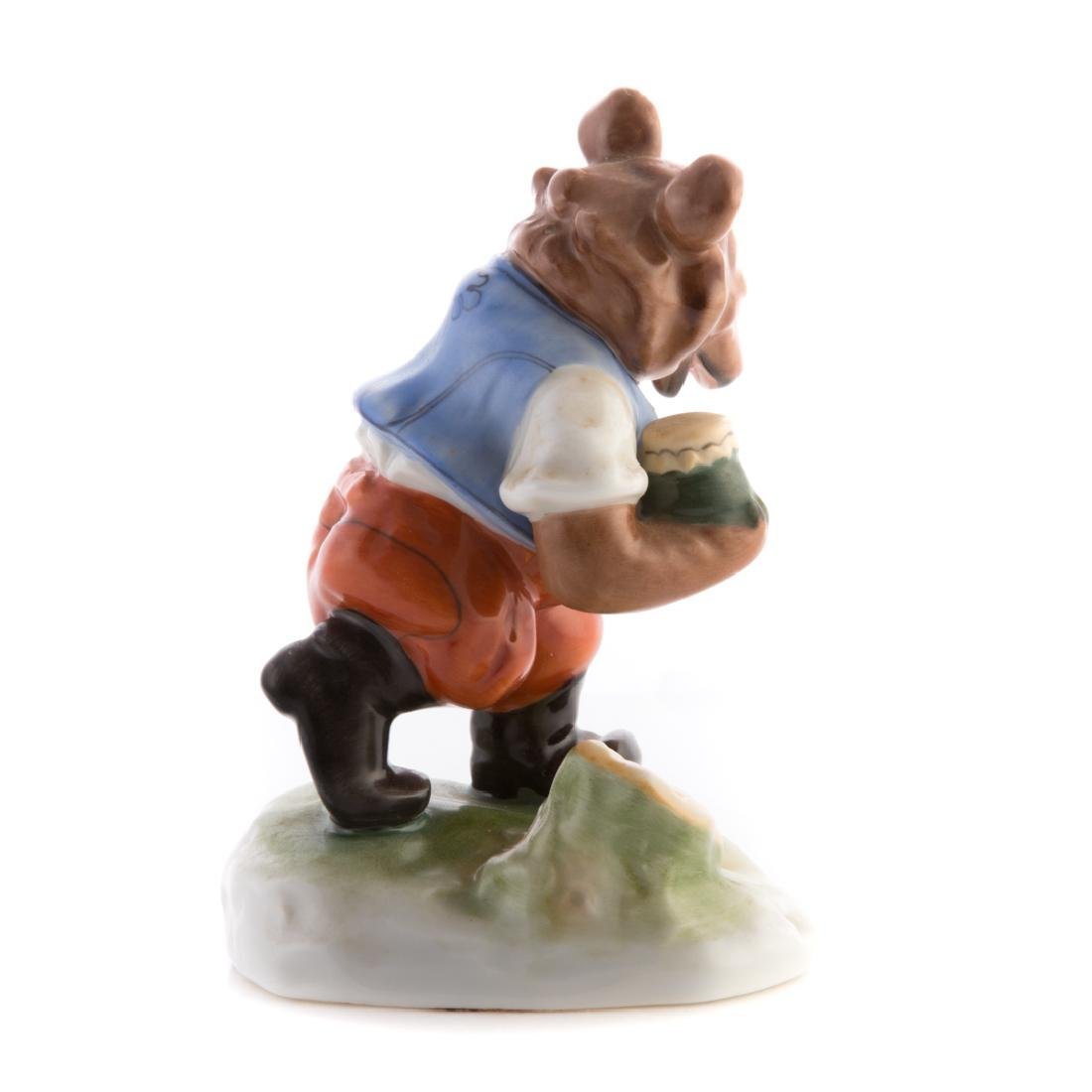 Herend porcelain bear with honey pot - 2