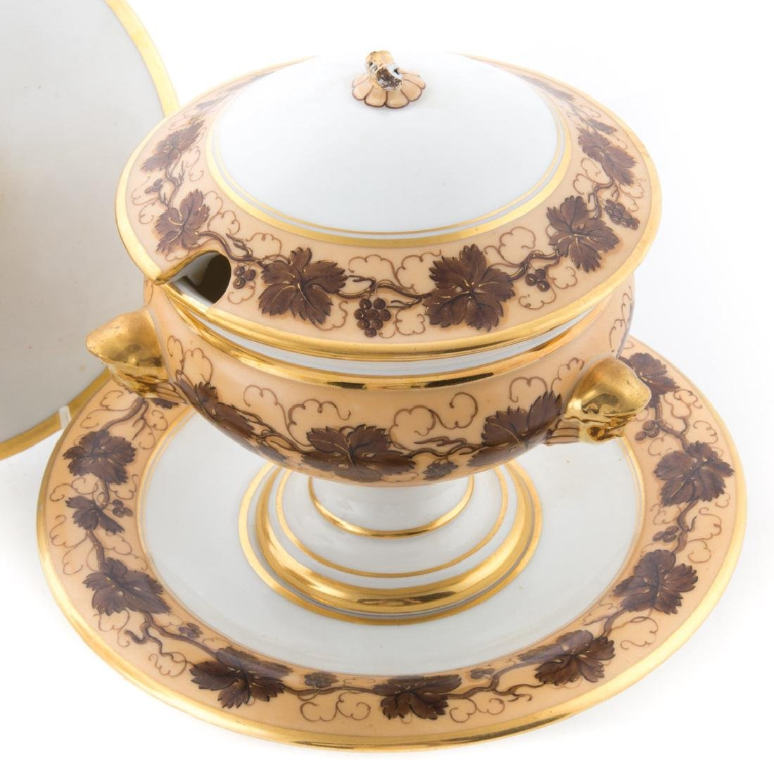 Pair Pochet D' a Paris porcelain sauce tureens - 2