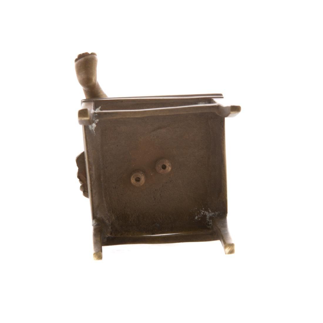 Austrian bronze little girl in chair - 4