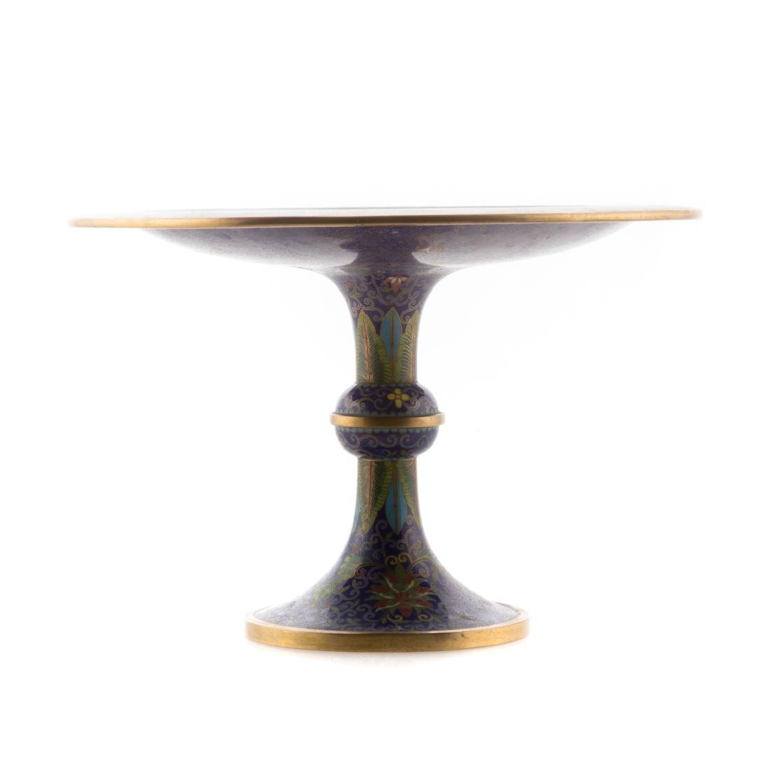 Chinese cloisonne enamel compote