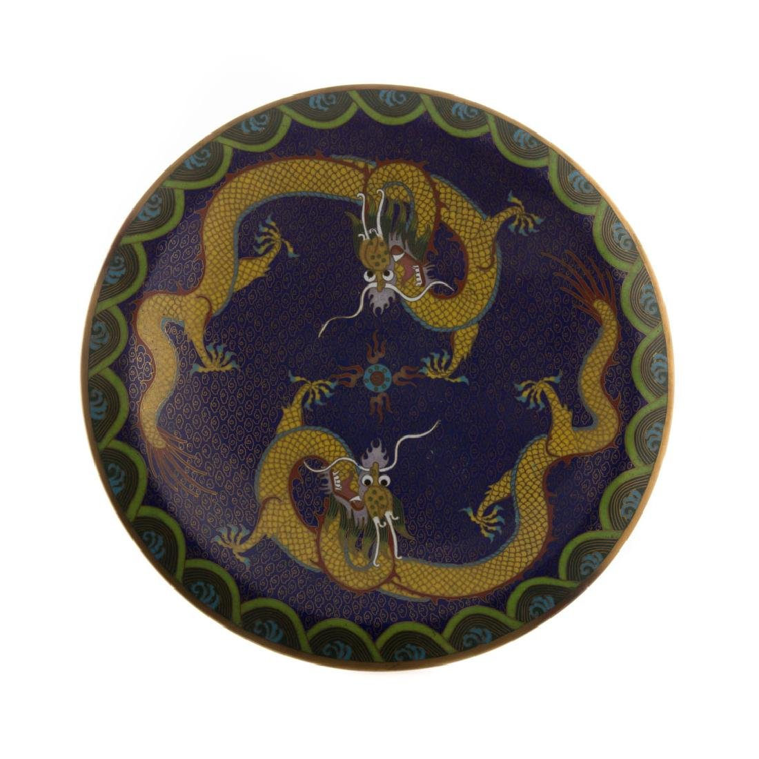 Chinese cloisonne enamel compote - 2