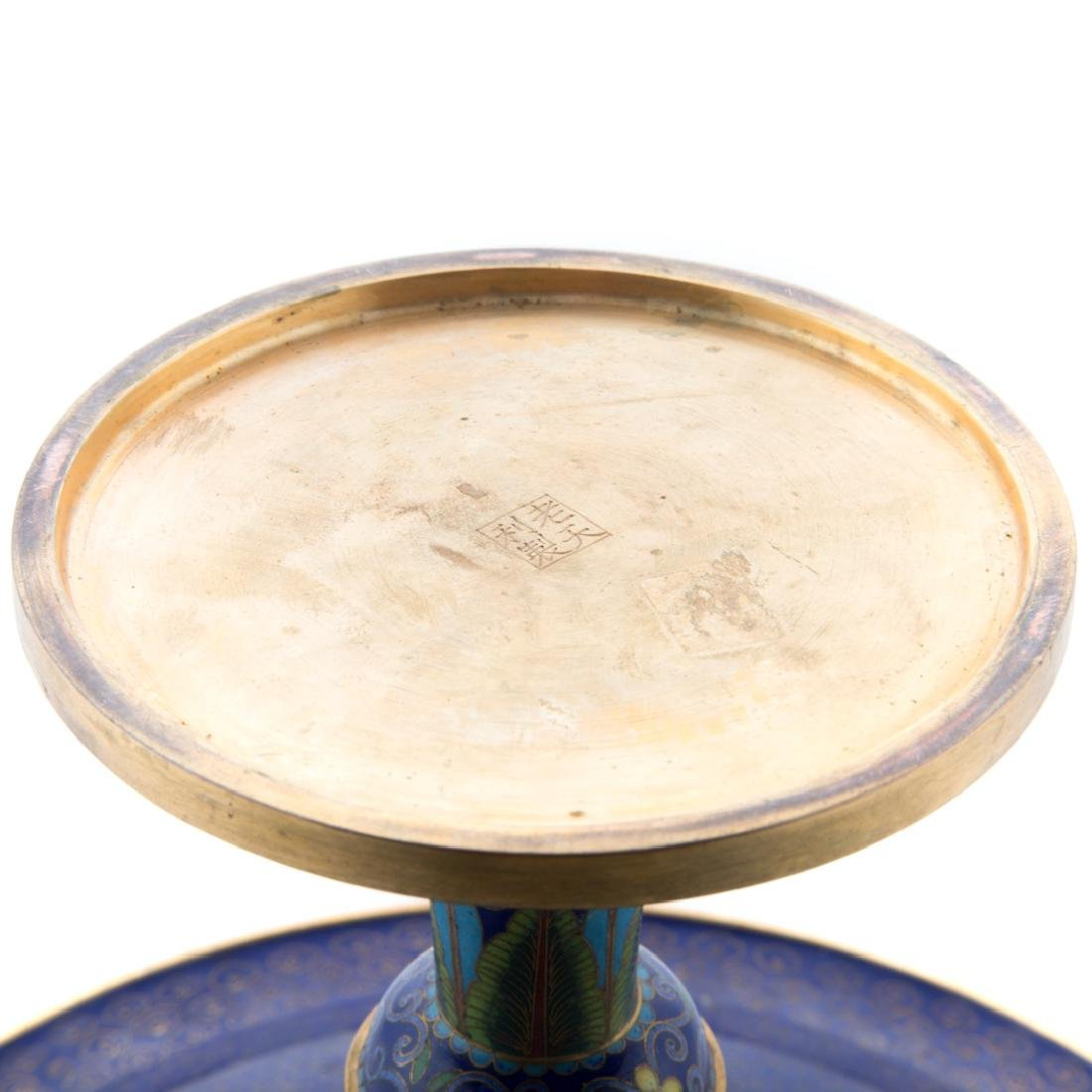 Chinese cloisonne enamel compote - 6