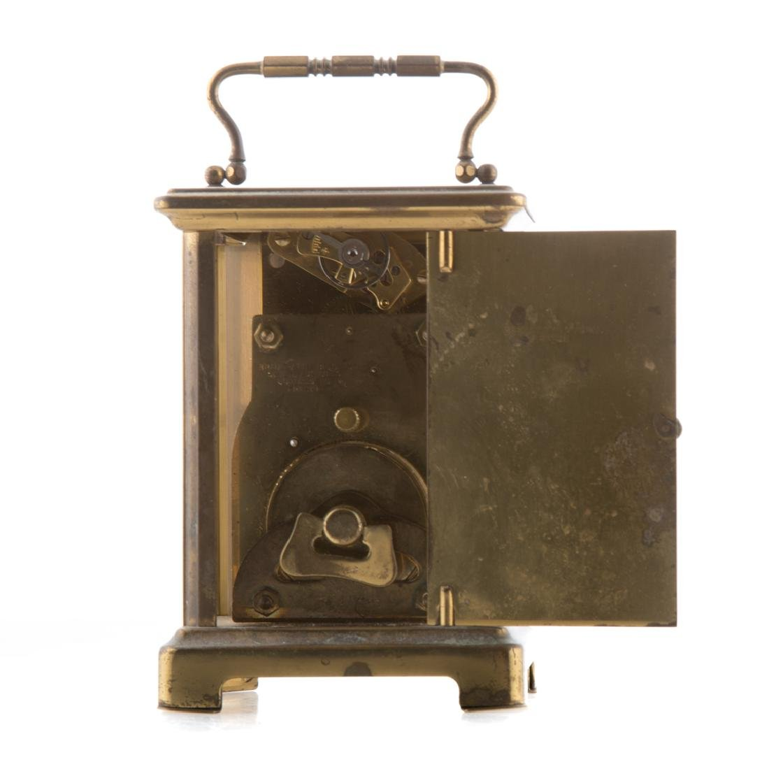 French brass and glass carriage clock - 3