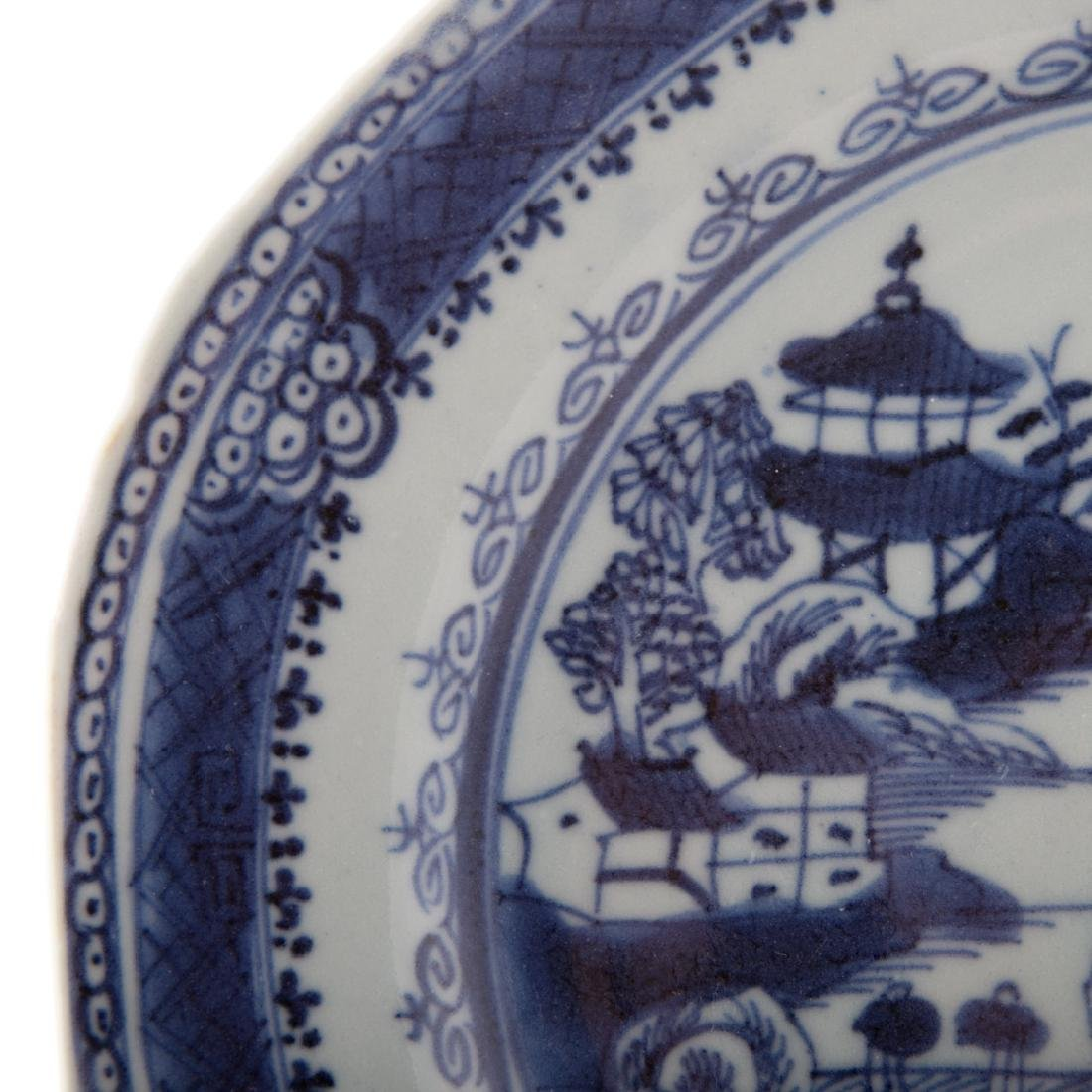 Six Chinese Export blue and white plates - 2