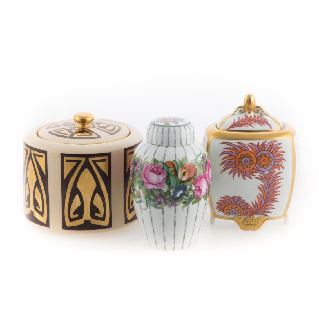 Three German and Austrian porcelain jars