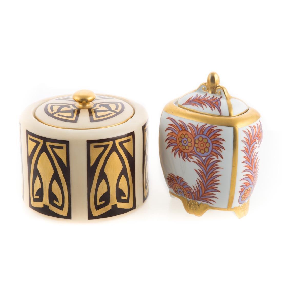 Three German and Austrian porcelain jars - 3