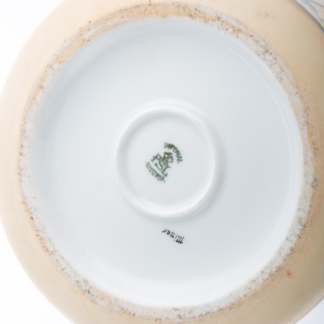 Three German and Austrian porcelain jars - 5