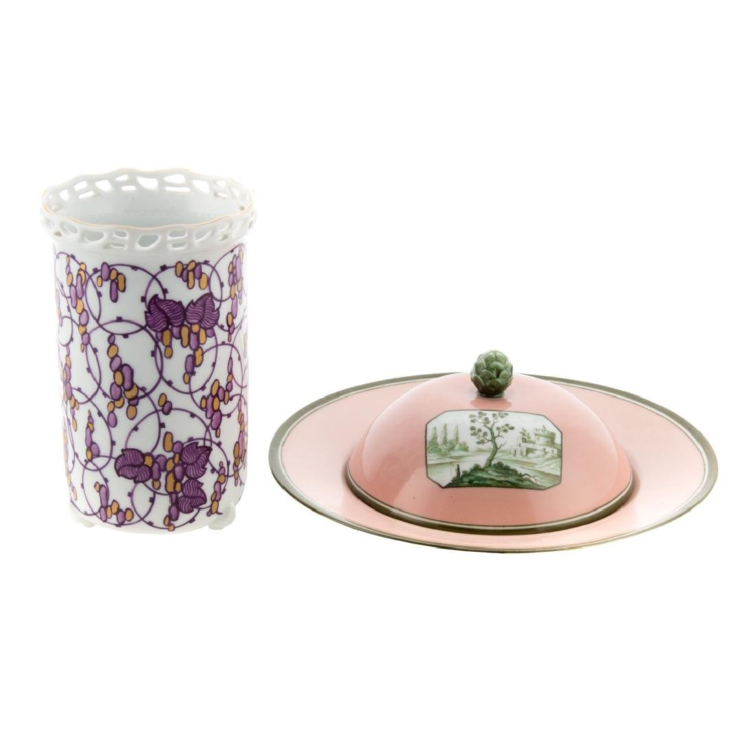 Two Nymphenburg porcelain articles