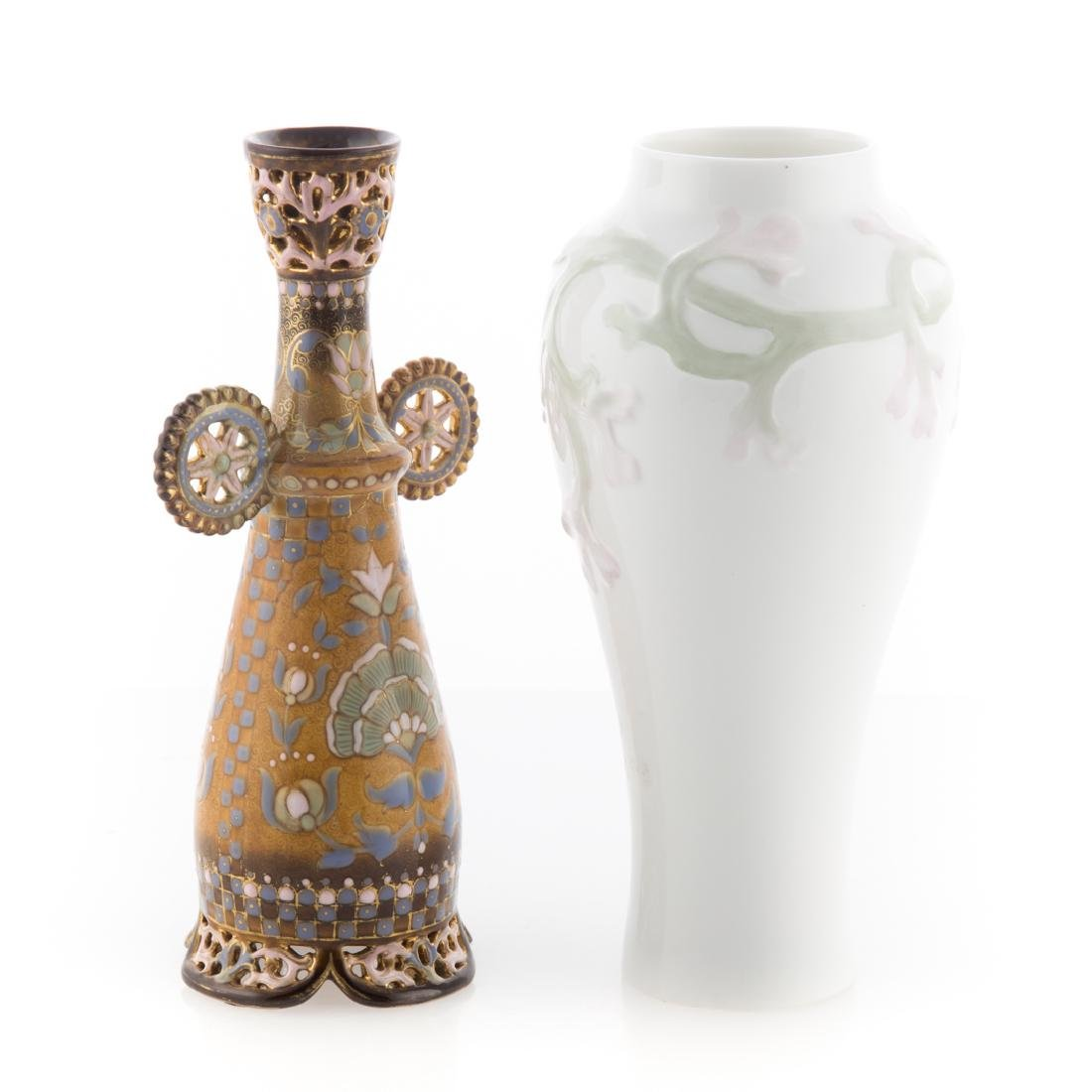 Zsolnay vase and Rorstrand porcelain vase - 3