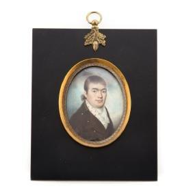 American School 19th c. Miniature portrait