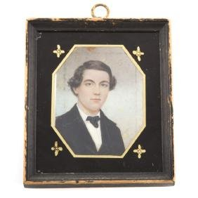Moses Russell. Miniature portrait A.C. Russell