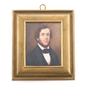 American School 19th century. Miniature portrait
